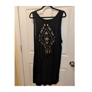 Black Forever 21 high low tank top